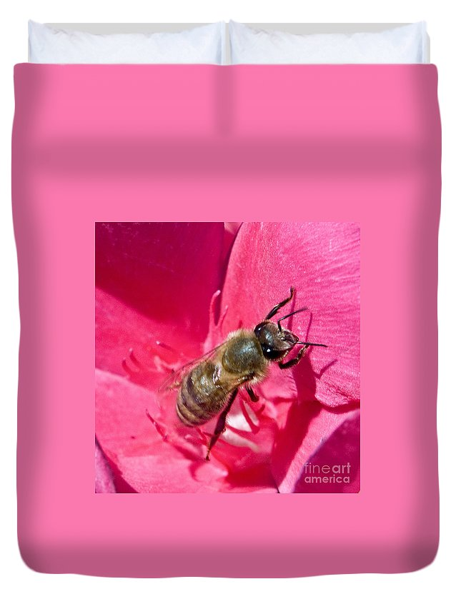 California Scenes Duvet Cover featuring the photograph Bee Mine by Norman Andrus