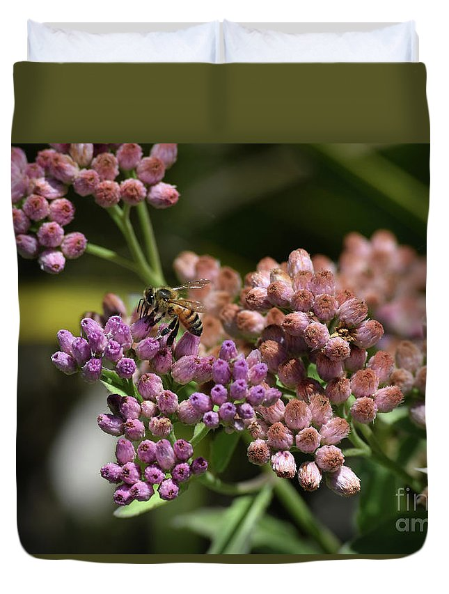 Bee Paradise Duvet Cover featuring the photograph Bee Paradise by William Tasker