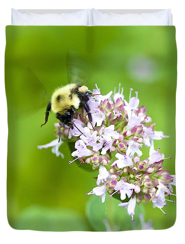 Bee Duvet Cover featuring the photograph Bee Wings by Robert Skuja