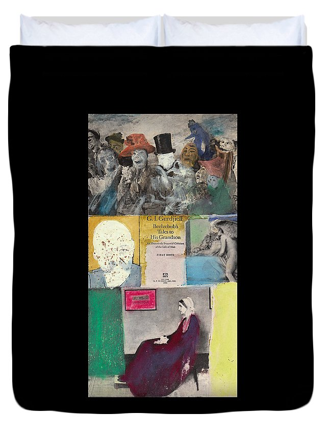 Gurdjieff Duvet Cover featuring the mixed media Beelzebub by Joe Michelli