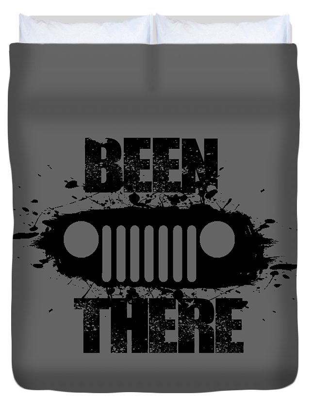 Jeep Duvet Cover featuring the digital art Been There In A Jeep by Paul Kuras