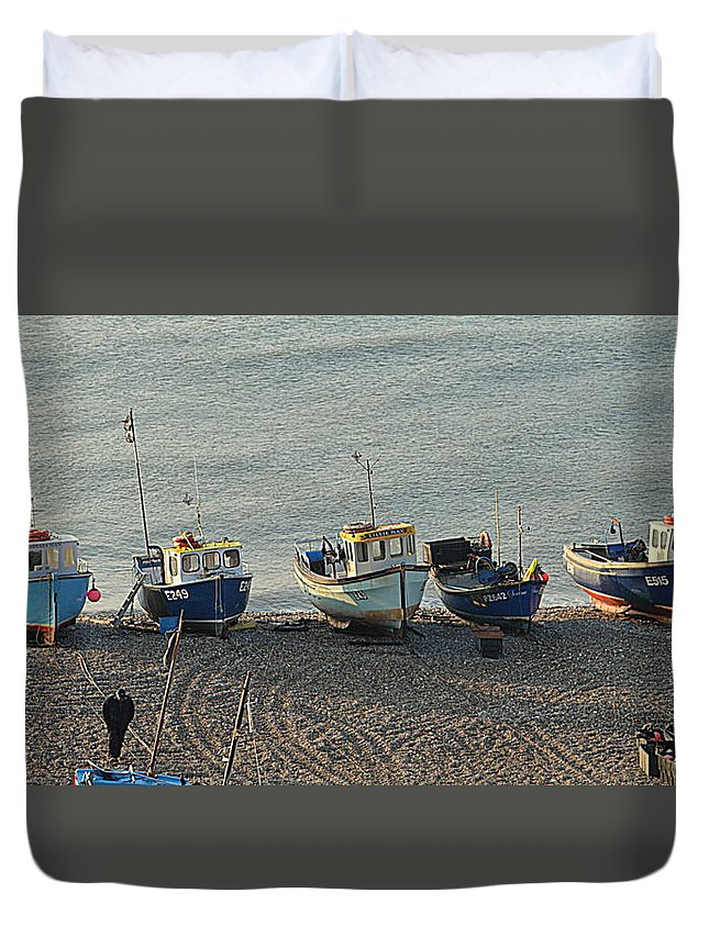 Beer Duvet Cover featuring the photograph Beer - East Devon. Uk by Andy Thompson