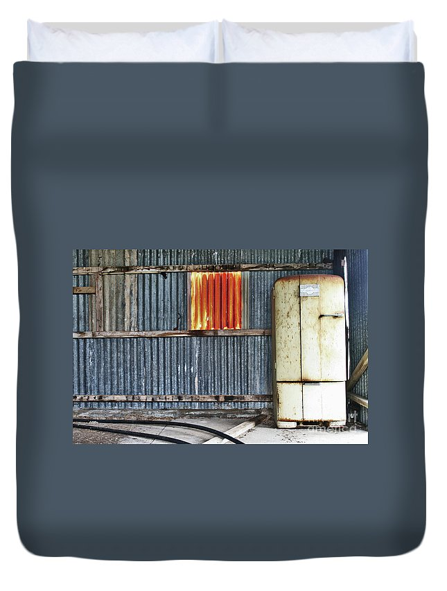 Beer Duvet Cover featuring the photograph Beer Fridge by Stephen Mitchell