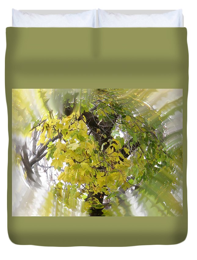 Abstract Duvet Cover featuring the photograph Before All The Leaves Fell by Ian MacDonald