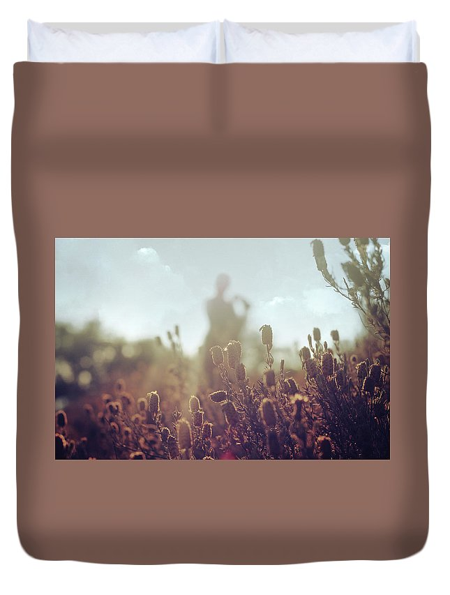 Floras Duvet Cover featuring the photograph Before Love by Zapista Zapista