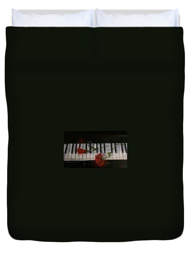 Still Life Duvet Cover featuring the painting Before The Concert by Stephen King
