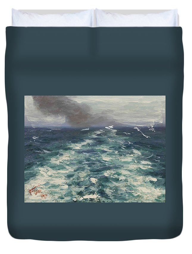Lionel Walden(american Duvet Cover featuring the painting Before The Storm by MotionAge Designs