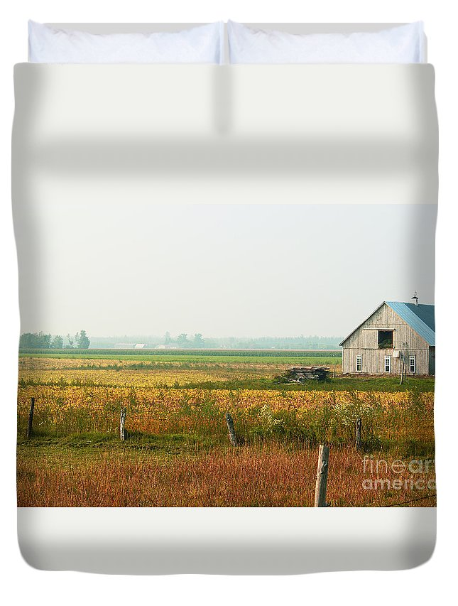 Countryside Duvet Cover featuring the photograph Before The Sweat by Aimelle