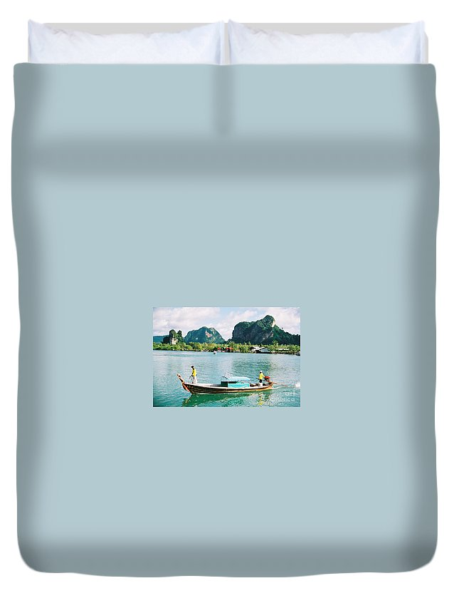 Boats Duvet Cover featuring the photograph Before The Tsunami by Mary Rogers