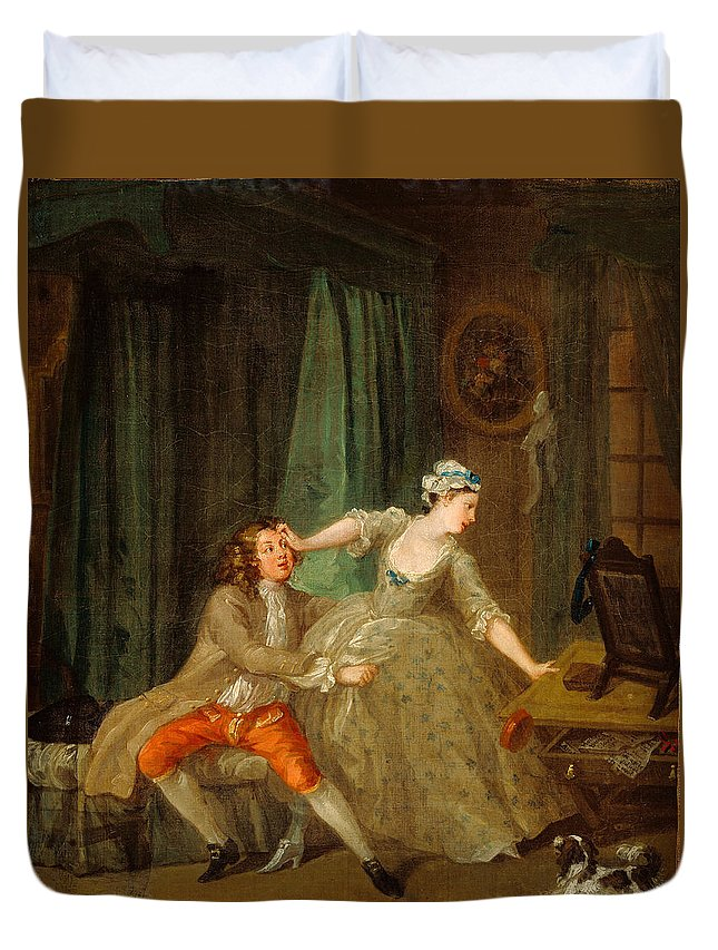 William Hogarth Duvet Cover featuring the painting Before by William Hogarth