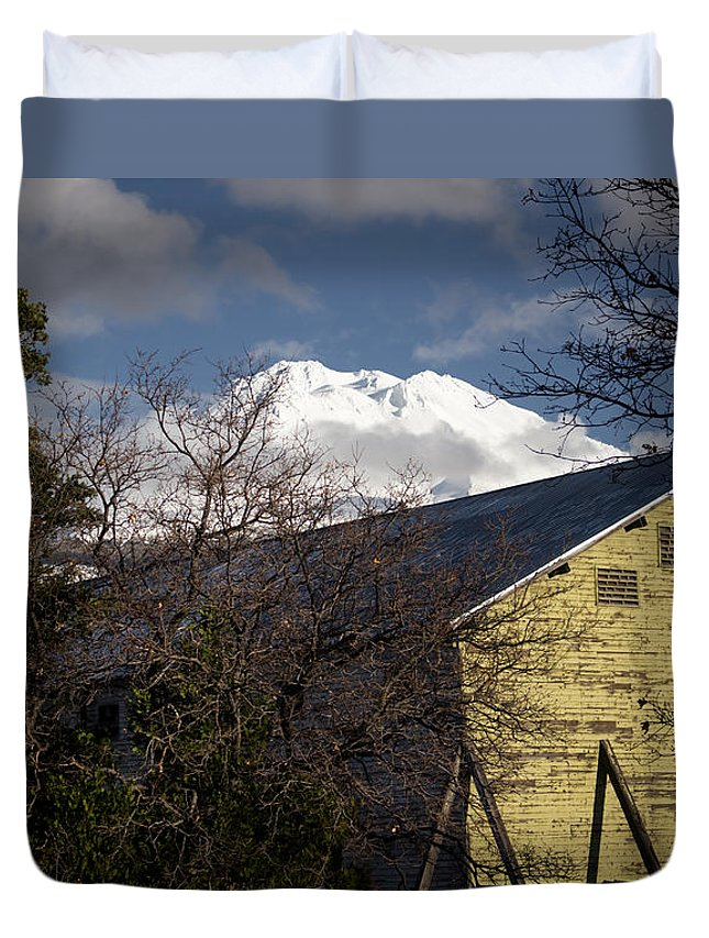 Mt. Duvet Cover featuring the photograph Behind The Scenes by Marnie Patchett
