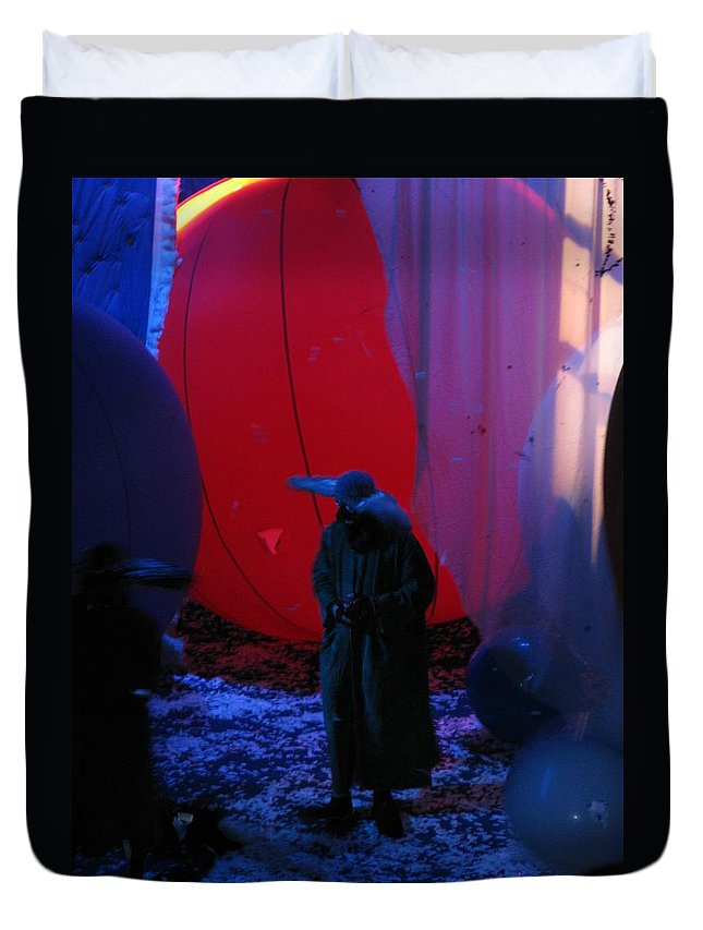 Slava's Snow Show Duvet Cover featuring the photograph Behind The Smile by Maria Joy