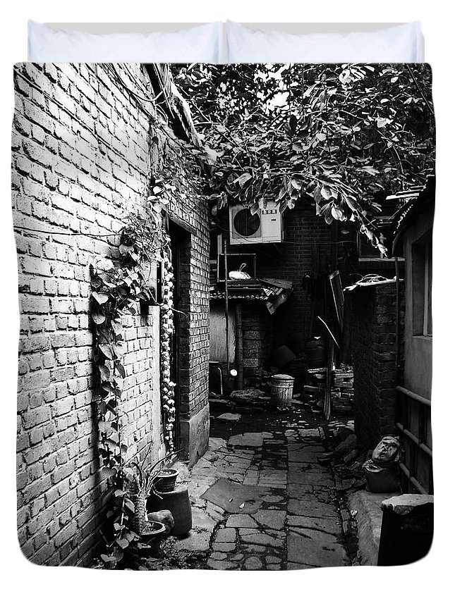 Beijing Duvet Cover featuring the photograph Beijing City 17 by Xueling Zou