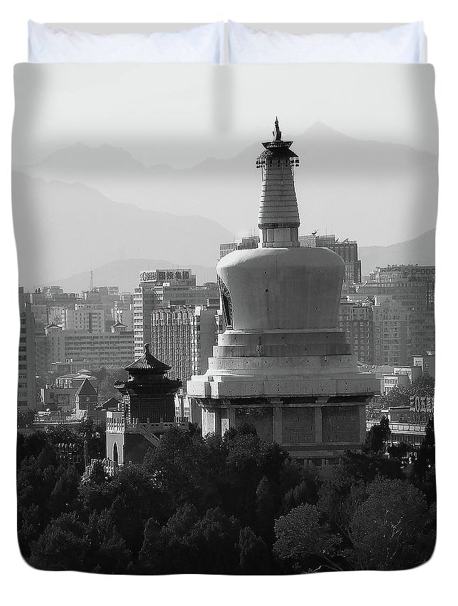 Beijing Duvet Cover featuring the photograph Beijing City 3 by Xueling Zou