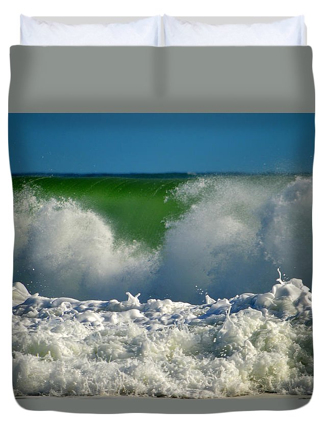 Ocean Duvet Cover featuring the photograph Being There by Dianne Cowen