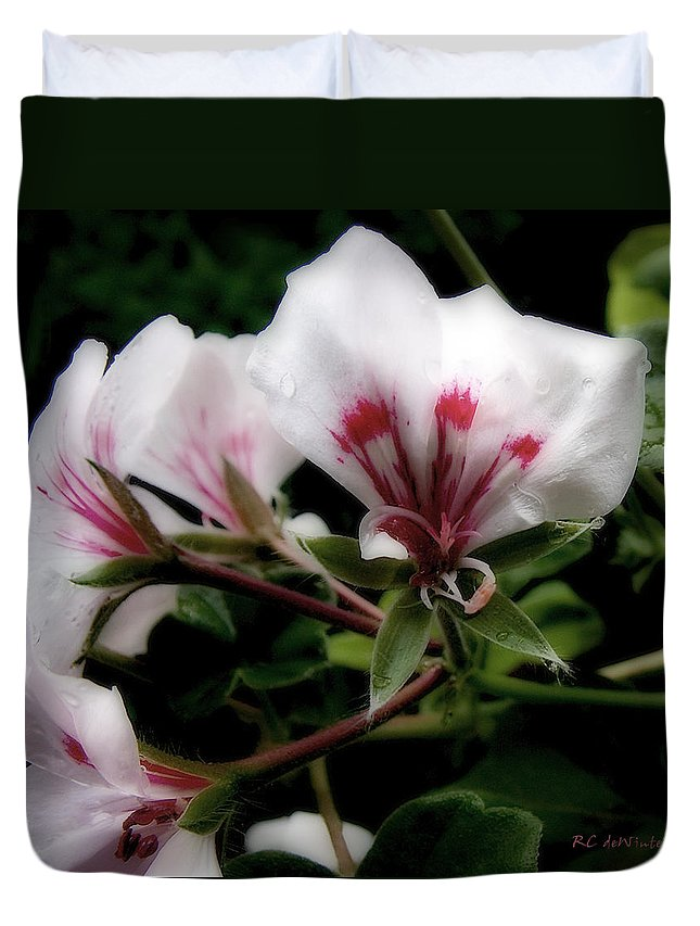 Cherry Duvet Cover featuring the photograph Bejewelled by RC DeWinter