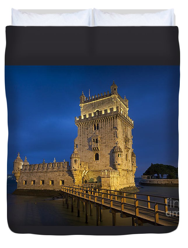 Belem Duvet Cover featuring the photograph Belem Tower, Lisbon, Portugal by Francisco Javier Gil Oreja