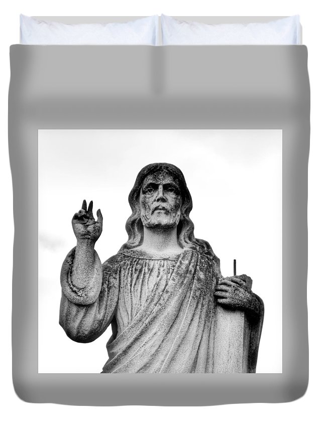 Belief Duvet Cover featuring the photograph Beliefs by Jeff Paul