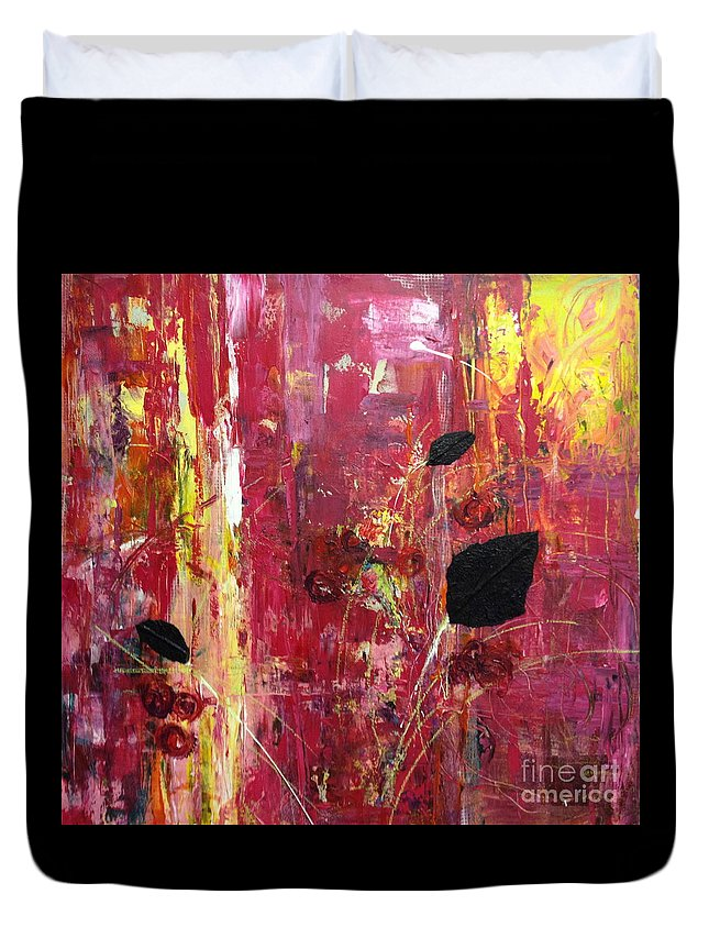 Landscape Duvet Cover featuring the mixed media Believe by Gail Butters Cohen