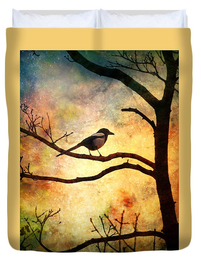 Bird Duvet Cover featuring the photograph Believing In The Morning by Tara Turner