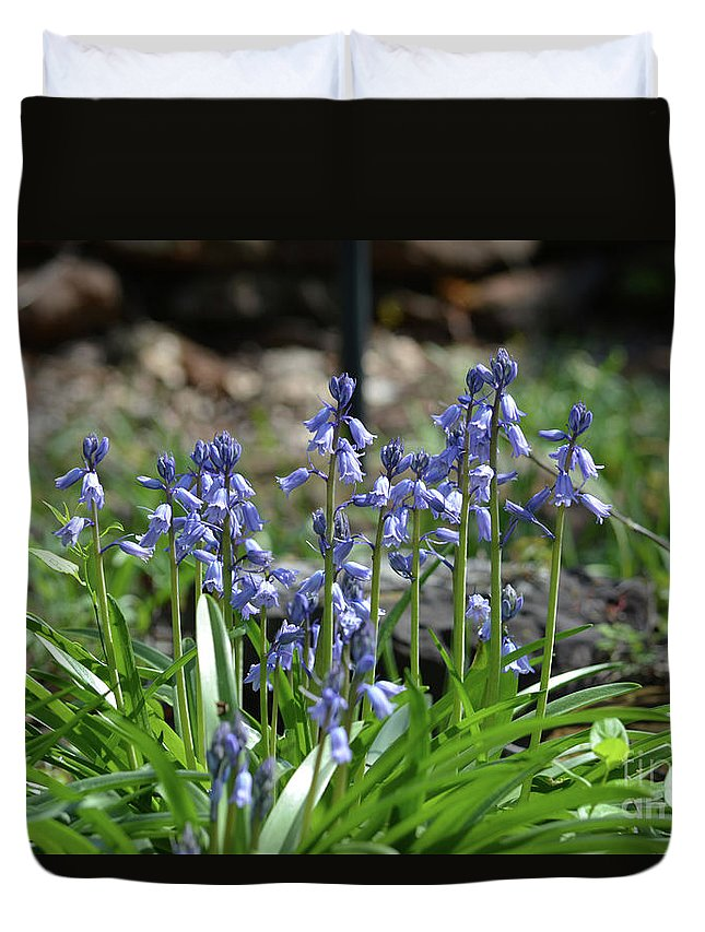 Bell Flowers Duvet Cover featuring the photograph Bell Flowers by Ruth Housley