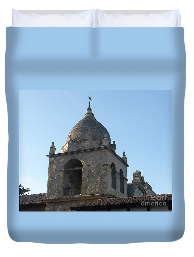 Church Duvet Cover featuring the photograph Bell Tower by Jeanie Watson