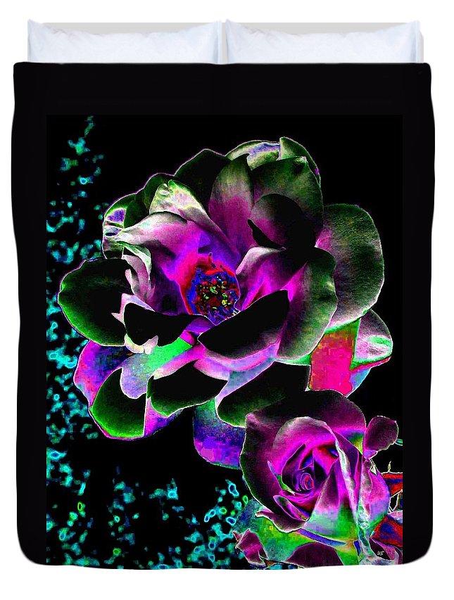 Bella Flora Duvet Cover featuring the digital art Bella Flora 8 by Will Borden