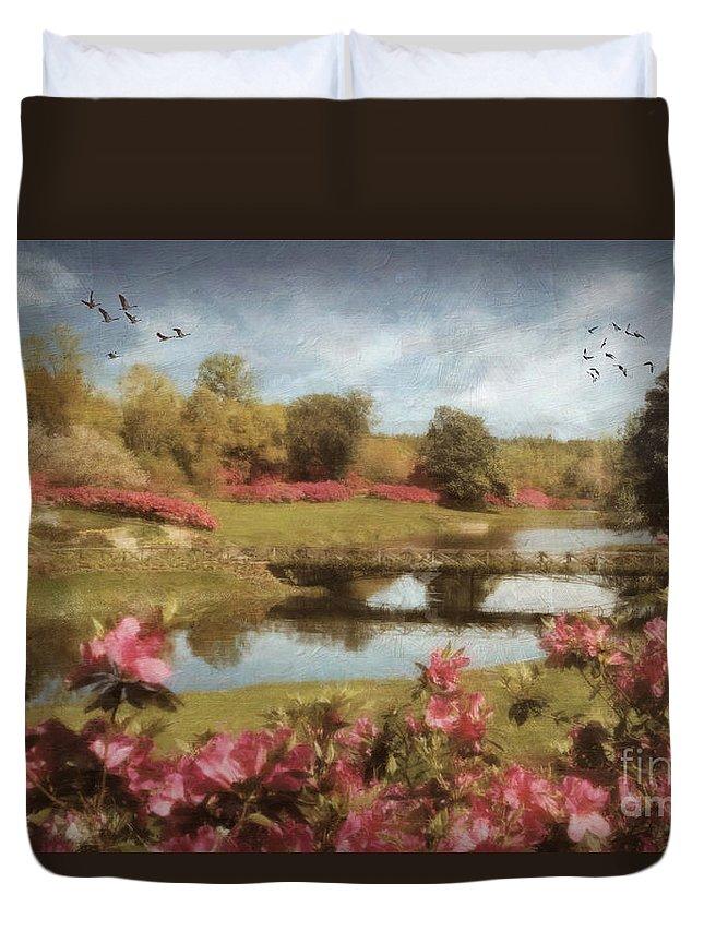Rhododendron Digital Art Duvet Covers