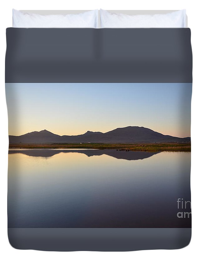 Benbecula Scotland Duvet Cover featuring the photograph Benbecula by Smart Aviation