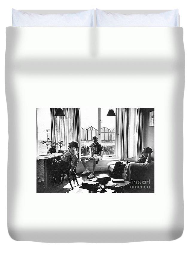 1950 Duvet Cover featuring the photograph Benjamin Britten by Granger