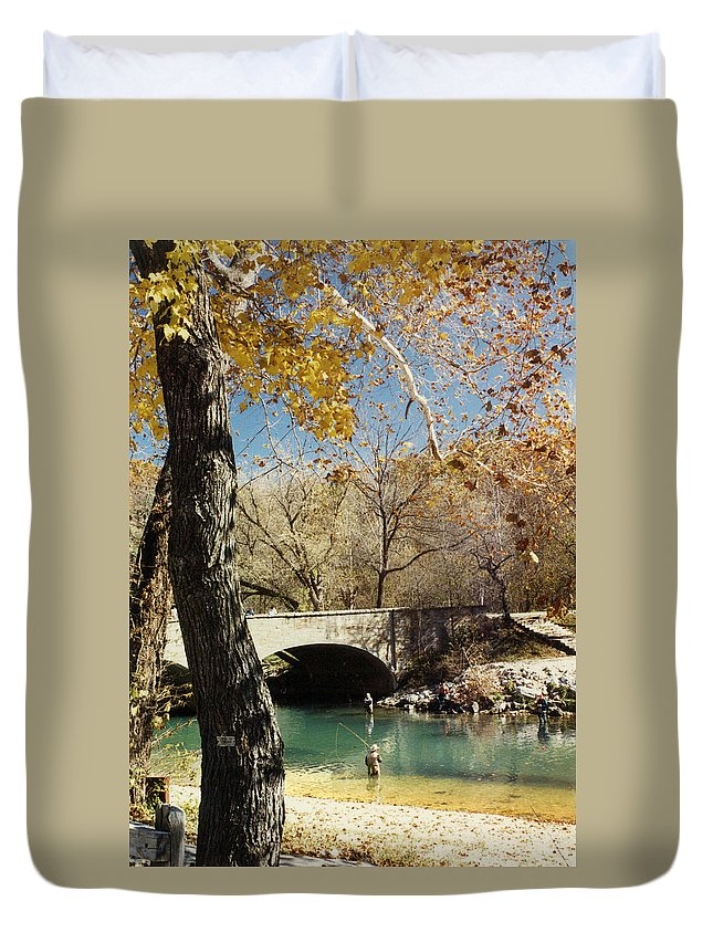 Landscape Duvet Cover featuring the photograph Bennet Springs by Steve Karol
