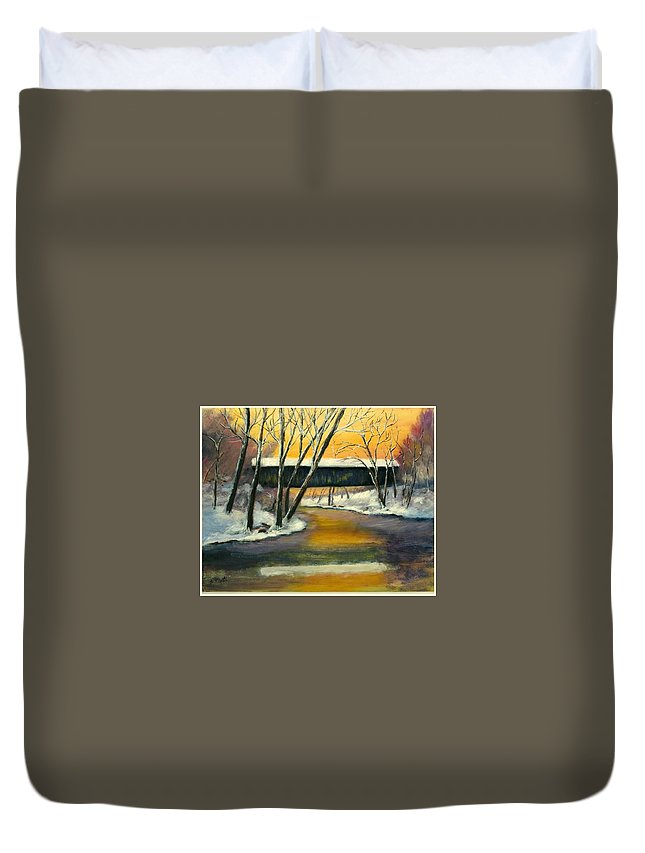 Kentucky Duvet Cover featuring the painting Bennett by Gail Kirtz