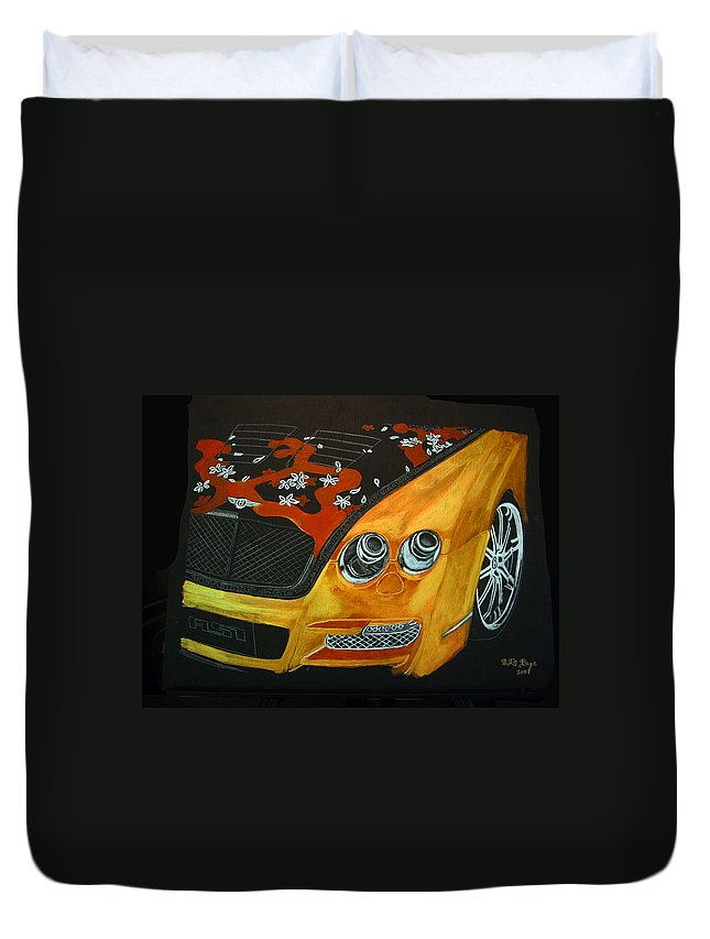 Bentley Duvet Cover featuring the painting Bentley W66gts by Richard Le Page