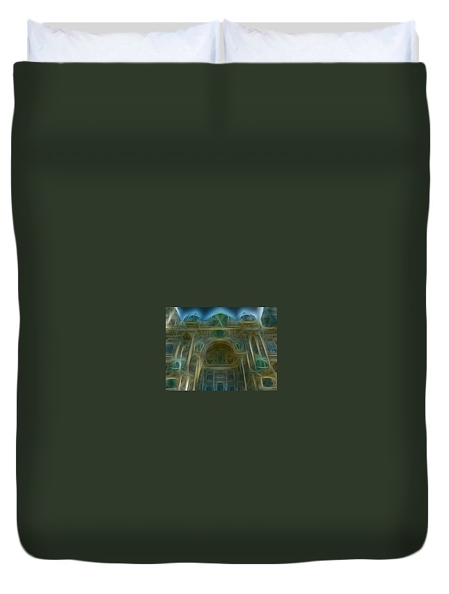 Berlin Duvet Cover featuring the photograph Berlin Cathedral by Chris Evans