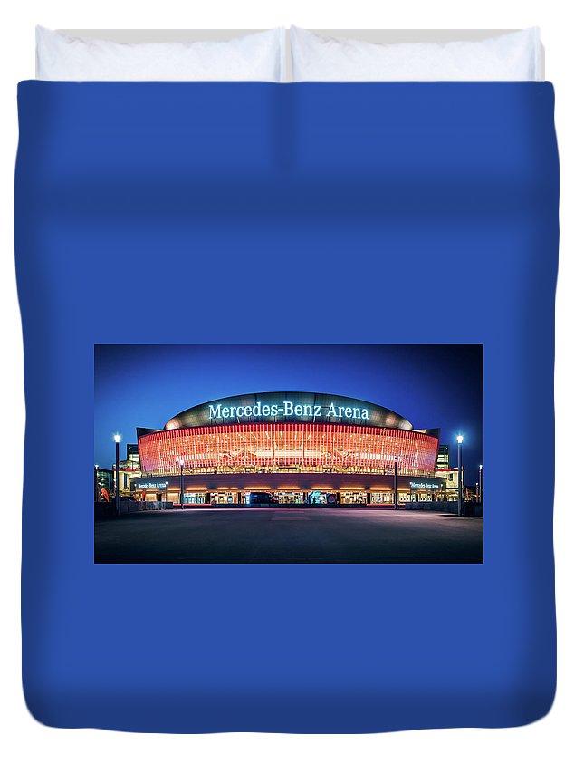 Berlin Duvet Cover featuring the photograph Berlin - Mercedes-benz Arena by Alexander Voss