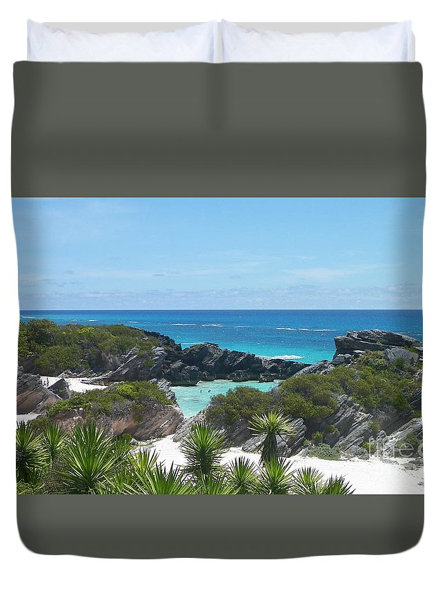 Bermuda Duvet Cover featuring the photograph Bermuda Bliss by Gina Sullivan