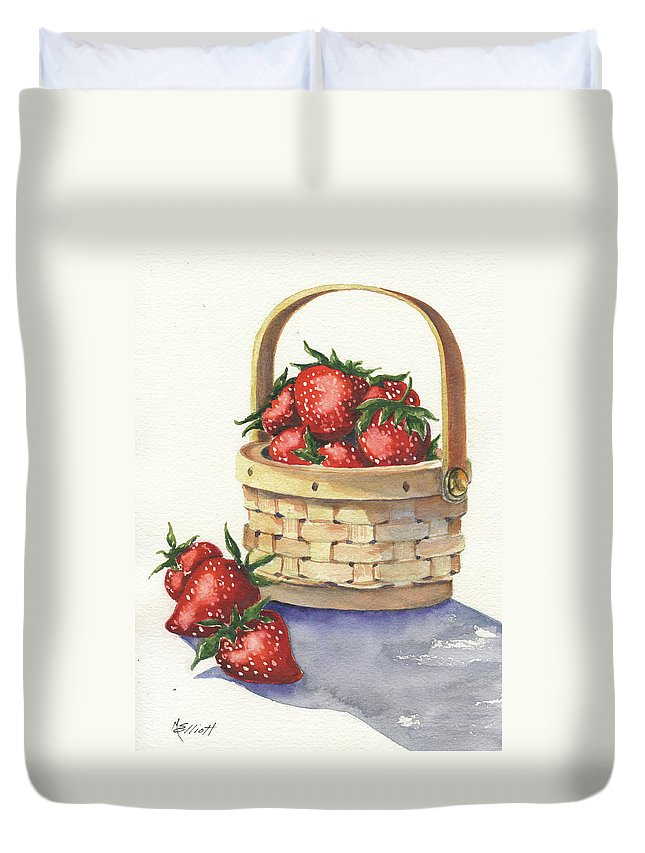 Berry Duvet Cover featuring the painting Berry Nice by Marsha Elliott