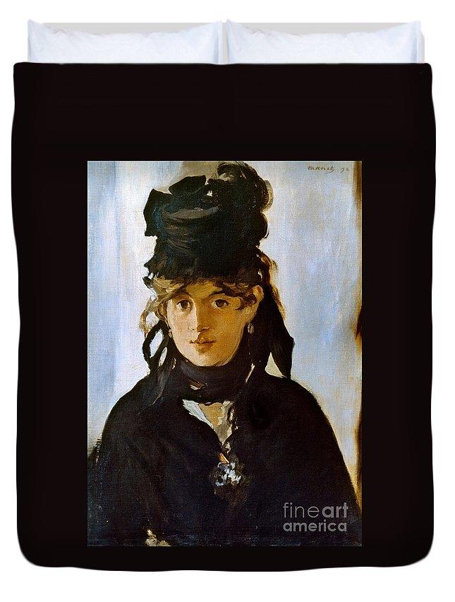 1872 Duvet Cover featuring the photograph Berthe Morisot (1841-1895) by Granger