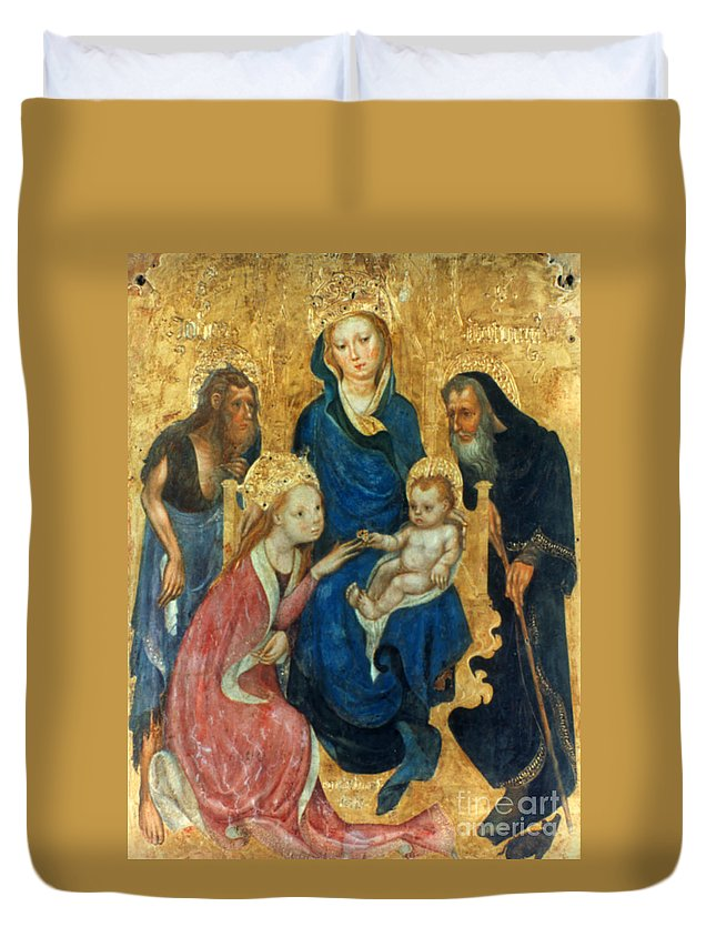 1404 Duvet Cover featuring the photograph Besozzo: St. Catherine by Granger