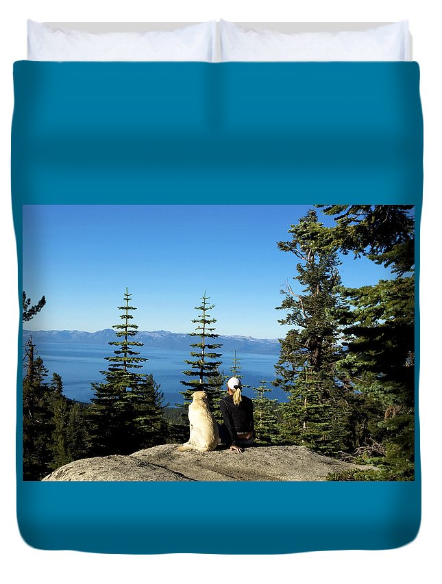 California Duvet Cover featuring the photograph Best Buddies At Lake Tahoe by Waterdancer