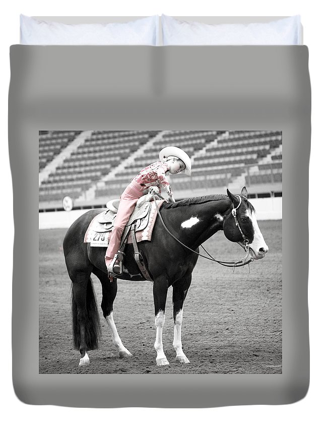 Americana Duvet Cover featuring the photograph Best Friends by Marilyn Hunt
