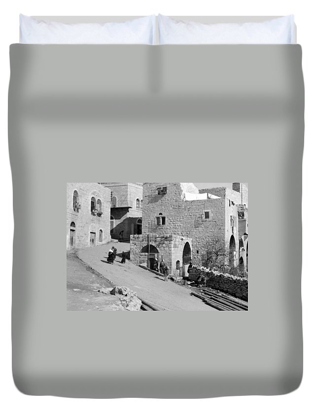 Home Duvet Cover featuring the photograph Bethlehem Homes by Munir Alawi