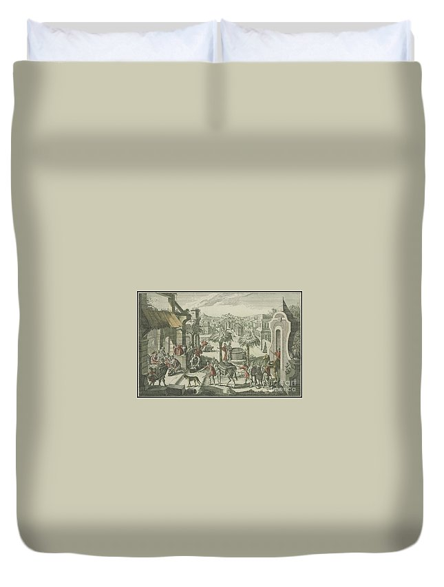 Grand Perspectives Duvet Cover featuring the painting Bethlehem by MotionAge Designs