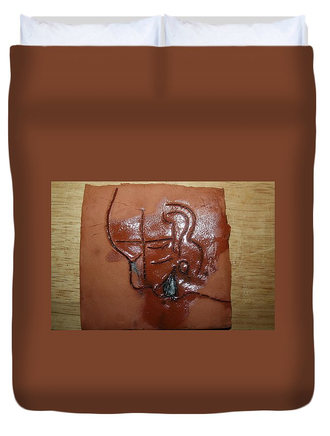 Jesus Duvet Cover featuring the ceramic art Betrayal - Tile by Gloria Ssali