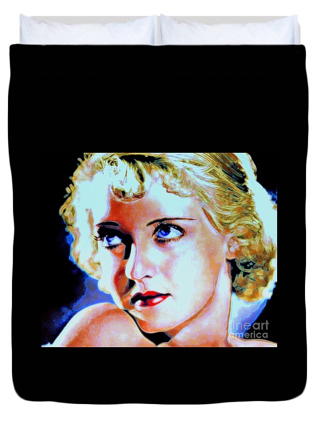 Bette Duvet Cover featuring the painting Bette by Wbk