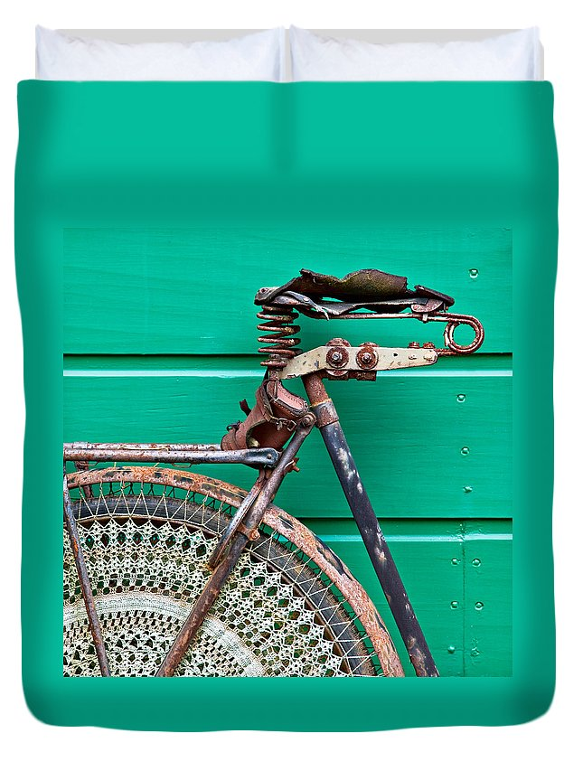 Bike Duvet Cover featuring the photograph Better Days by Dave Bowman