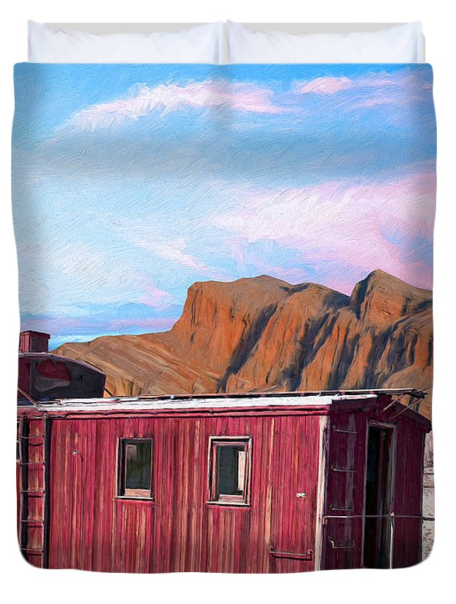 Better Days Duvet Cover featuring the painting Better Days by Dominic Piperata