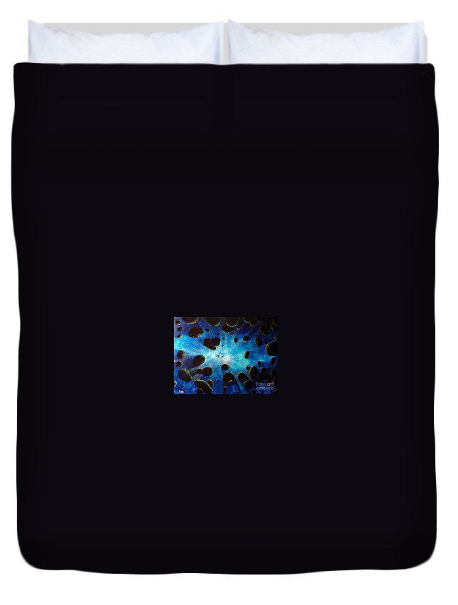 Asteroid Field. Astro Duvet Cover featuring the painting Better Go Around by Murphy Elliott