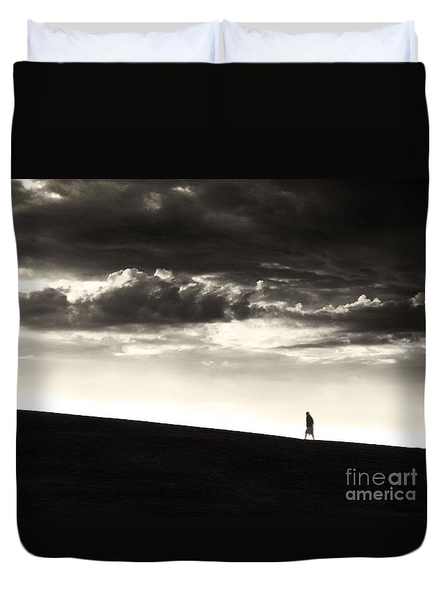 Man Duvet Cover featuring the photograph Between Living And Dying by Dana DiPasquale
