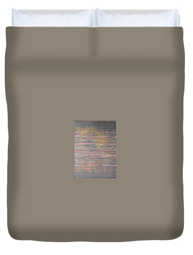 Lines Duvet Cover featuring the painting Between The Lines by Jacqueline Athmann